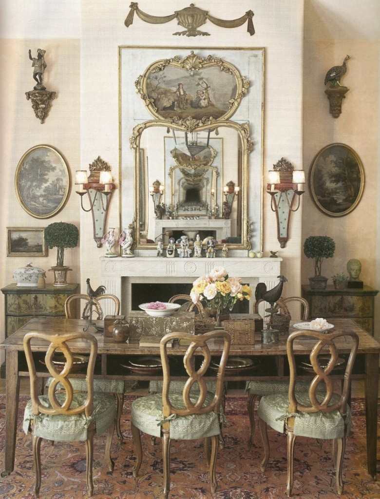 French wall decor for French provincial home designs