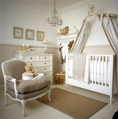 French Provincial Nursery Furniture & Baby Crib Canopy - Modern Baby Crib Sets