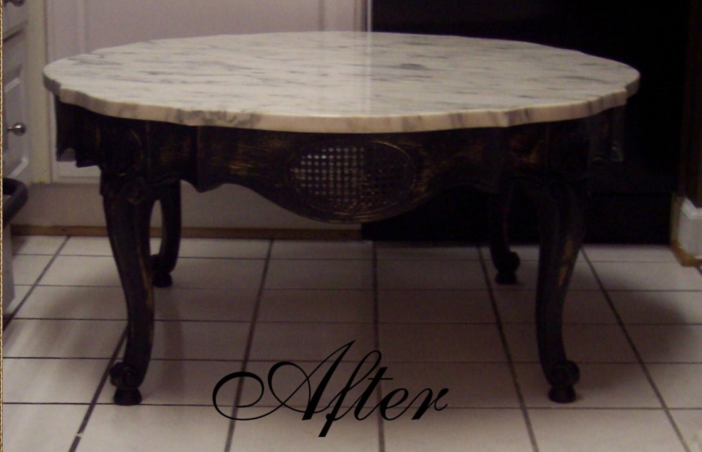 French Provincial Marble Coffee And End Tables