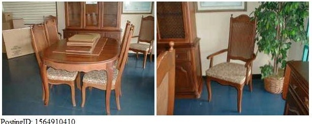 Bassett 9 Pc Dining Set