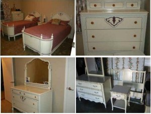 A Cery Unique And Rare DIXIE French Provincial Bedroom Set