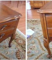 French Provincial Nightstand Sidetable