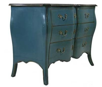 Platinum Blue Lyonne Chest of Drawers Side From Chintz & Company