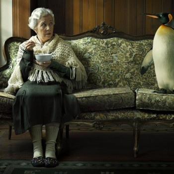 The woman and the penguin