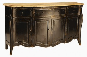 French Provincial Black Buffet Tara Mundi Furniture Online