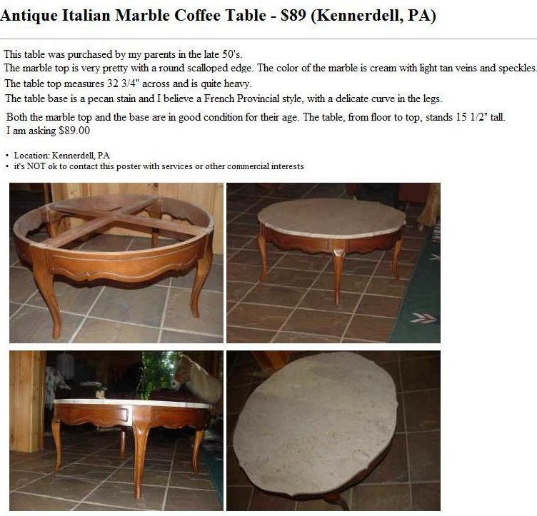 Home Design Martha Marble Coffee Tables