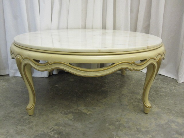 French Style Round Beligum Marble Top Coffee Table By Country Classic  Antiques On Ebay