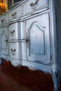 .Antique-Blue French Provincial Buffet