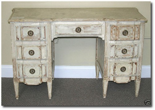 Attributed-Jansen-Distressed-White-French-Vanity-Desk-By-Lakeview-Style-on-Ebay