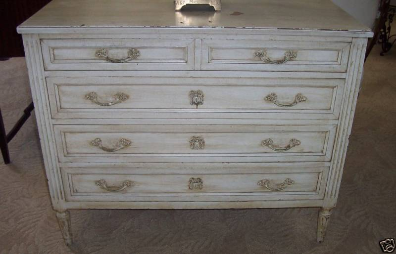 good french louis xvi drawer white commode by art deco imports with commode art deco occasion. Black Bedroom Furniture Sets. Home Design Ideas