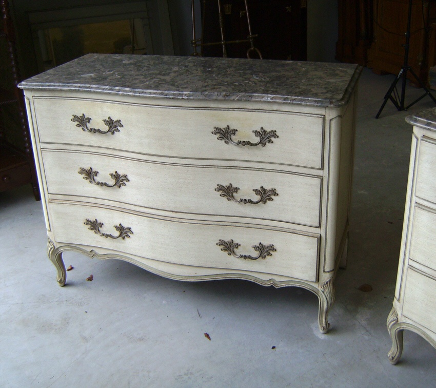 Henredon French Louis Xv Style Marble Top Dressers 2