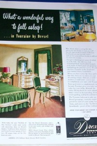 1951 Drexel Furniture Touraine Ad From Forget Me Not 3 ON EBAY