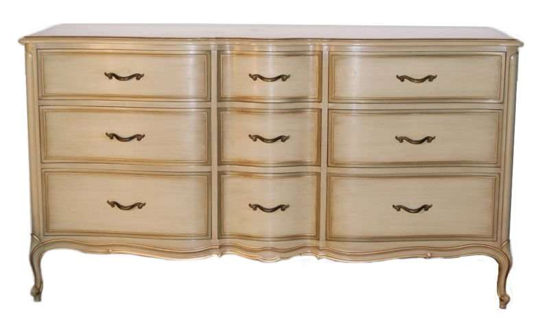 Chic Drexel 1950 S French Louis Xv Shabby Painted Touraine Collection 9 Drawer Chest Er Alternative Furnishings