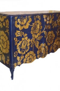 Meranda's French Provincial Gold Floral Chest