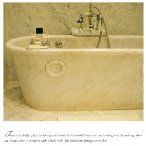 Freestanding Marble Soaking Tub - Provencial Interiors