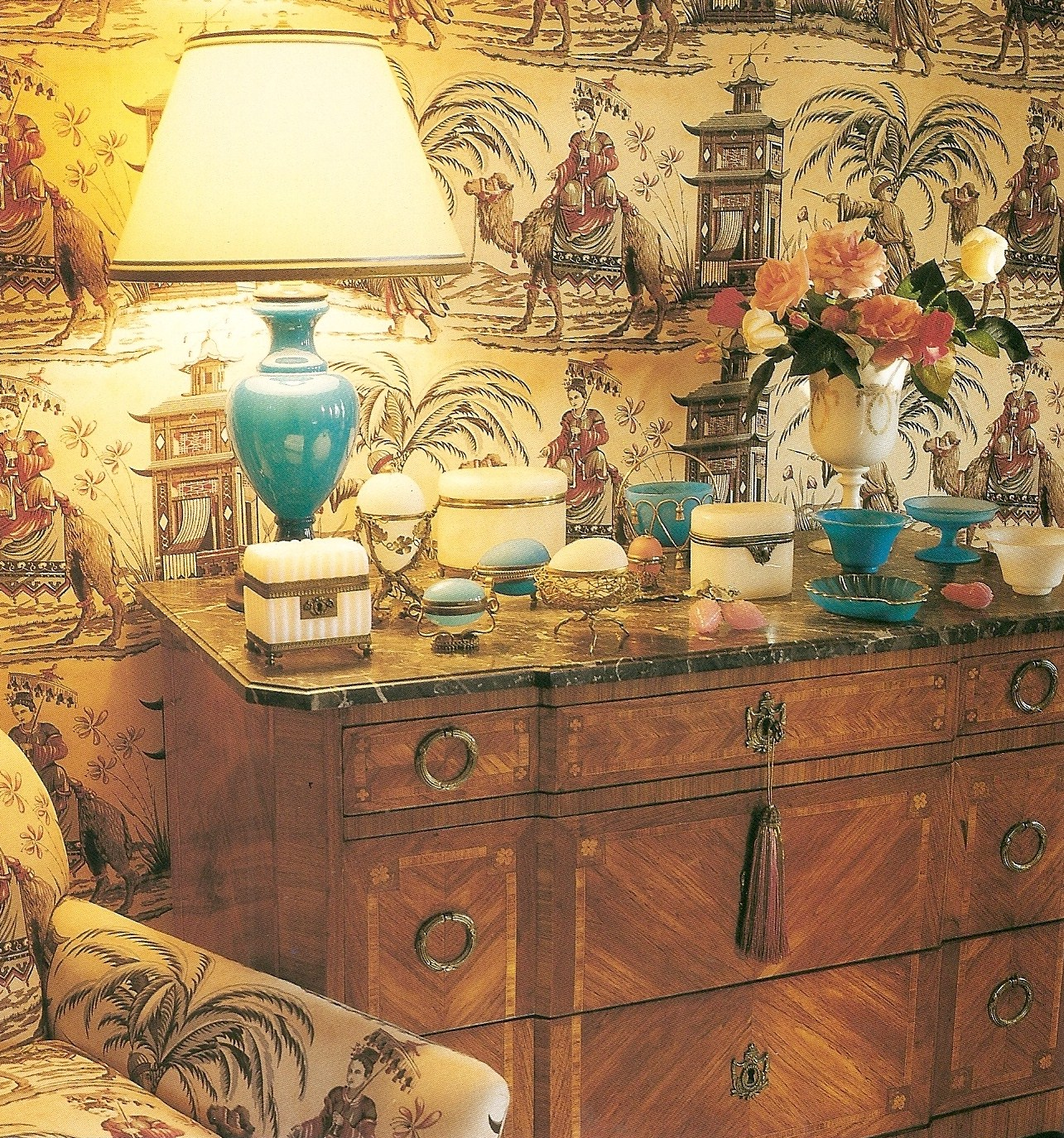 Chinoiserie Fabric Back drop