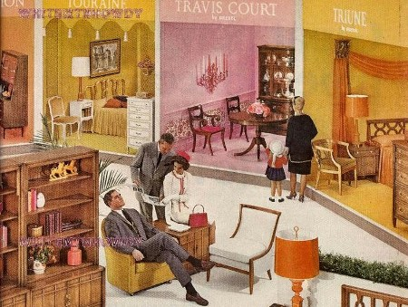 1964 Drexel Meridian Living Dining Room Furniture Ad