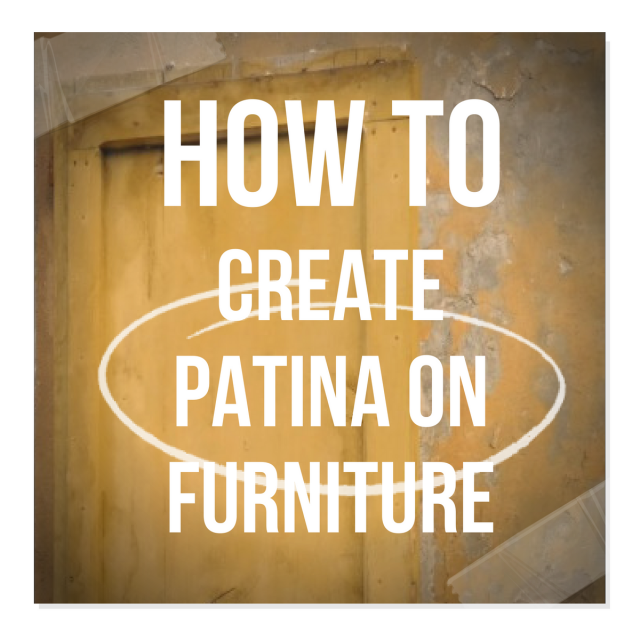 How To Create Patina On Furniture