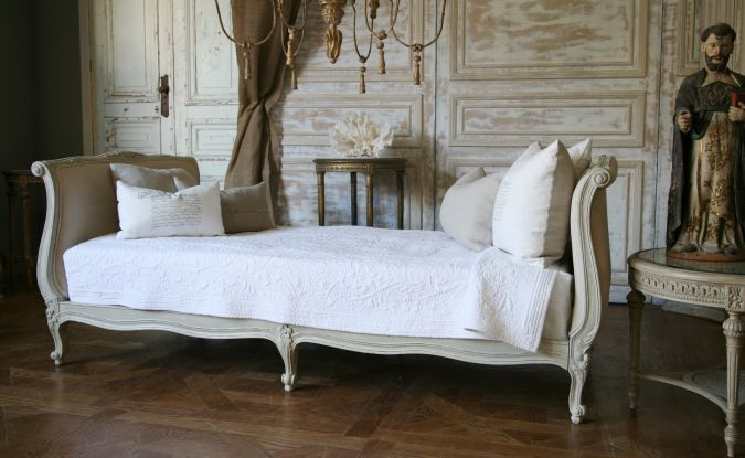 Twin Day Bed Louis Xv French Style Painted Fabulous