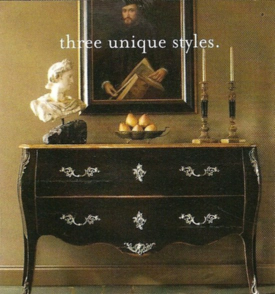 French Provincial Decorating - Black French Chest