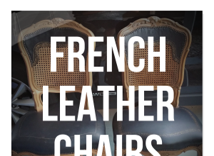 French Leather Sofas and Chairs