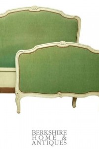 French Louis XV Painted Upholstered Bed