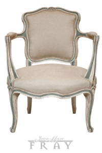 Louis XV Hand Painted Fruitwood Armchair