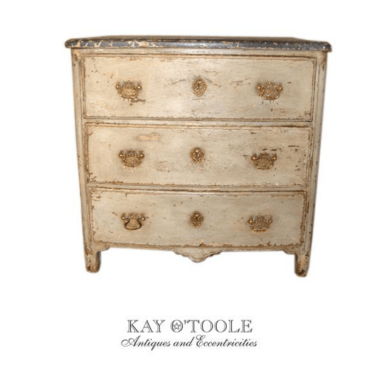 French Provence Furniture Painted French Three Drawer mode