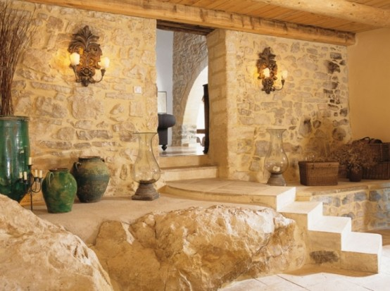 Traditional French Country Home Plans Rough Stone Walls
