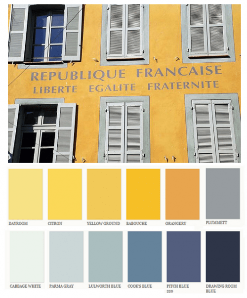 Decorating with yellow 18th century french provence paint - Yellow and blue paint scheme ...