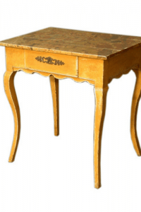 19th Century French Provincial Louis XV Painted Side Table