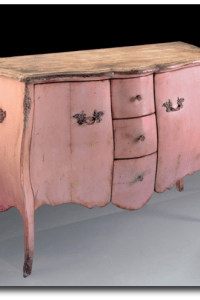 French Painted Pink Commode