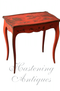 Louis XV Style Red Lacquer