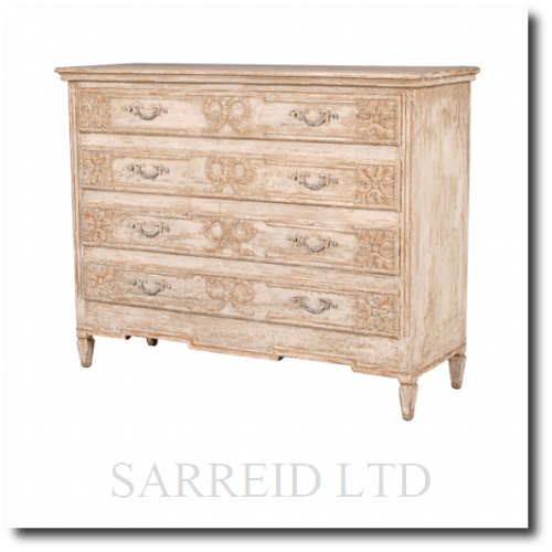 Cabochon Chest Of Drawers Cabinet - French Provence Furniture, French Provincial