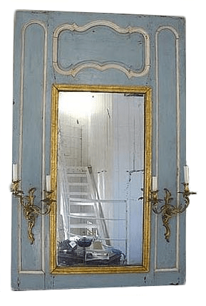 French Mirror With Sconces