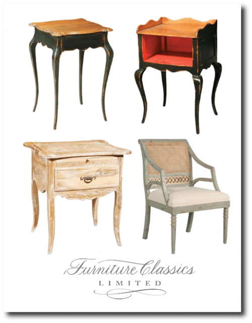 Painted French Provence Reproduction Furniture