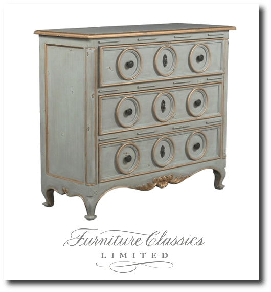 Furniture classics three ring chest item 2958du for French reproduction furniture