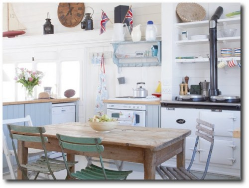 Rustic Kitchen Featured in Campagne Decoration Magazine