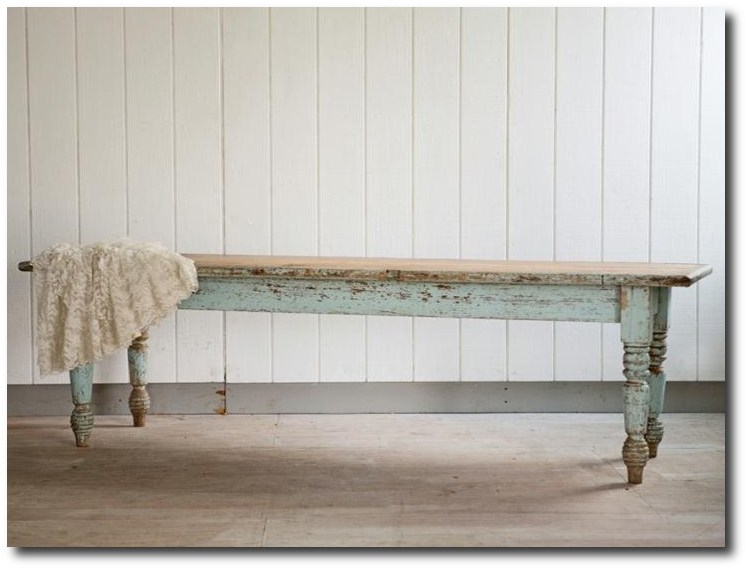Superbe Vintage Farmhouse Table From Rachel Ashwell Shabby Chic Couture ...