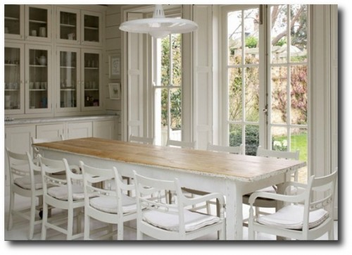 White Farmhouse Table Featured in Annabel's House