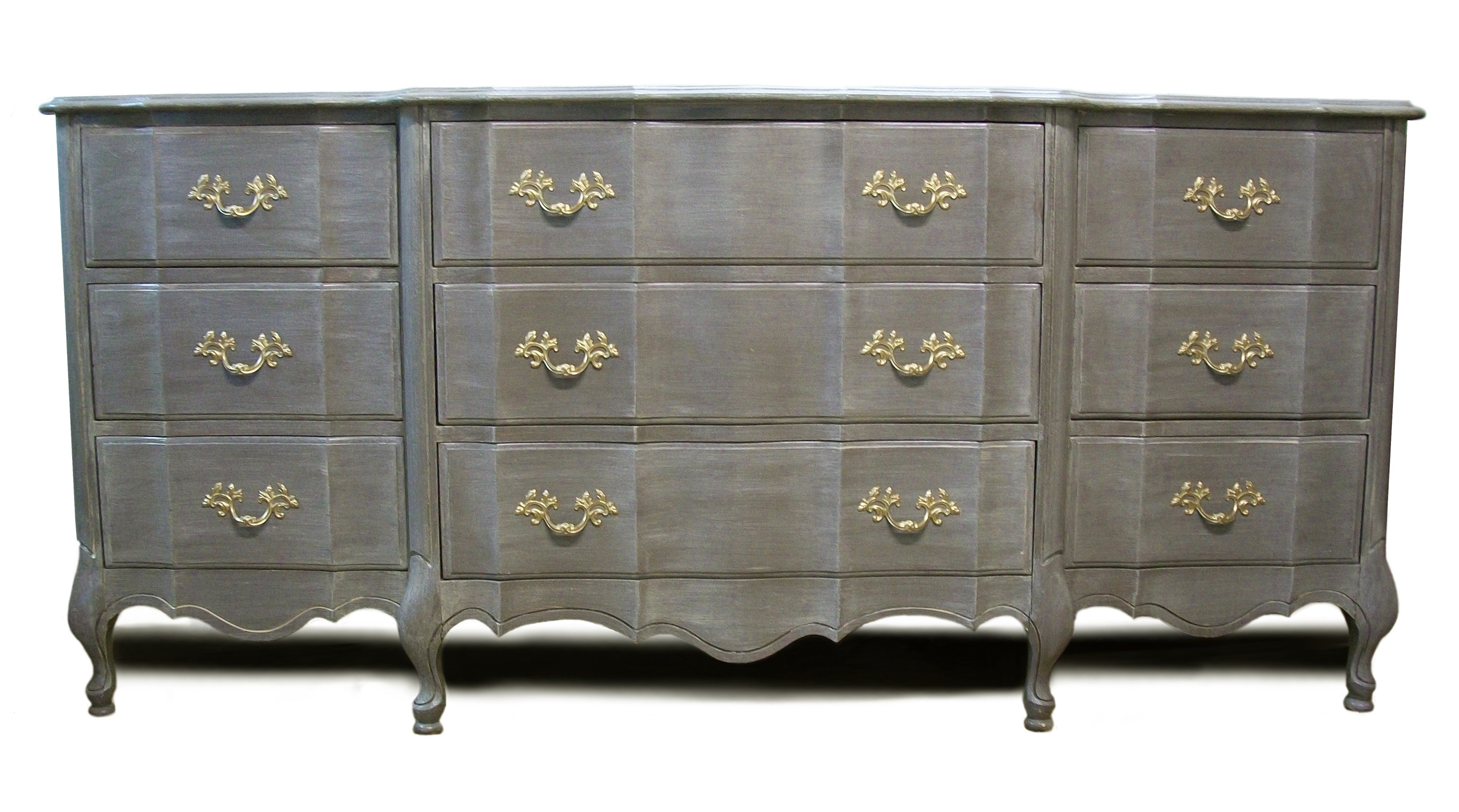 gray provincial with brass accents sloan