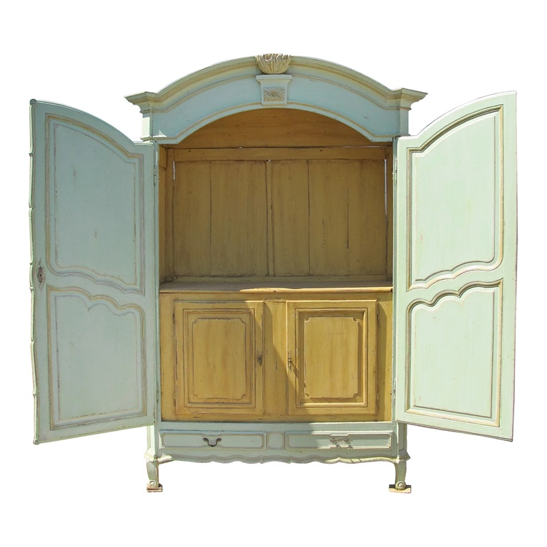 magnificent french 19th century painted armoire