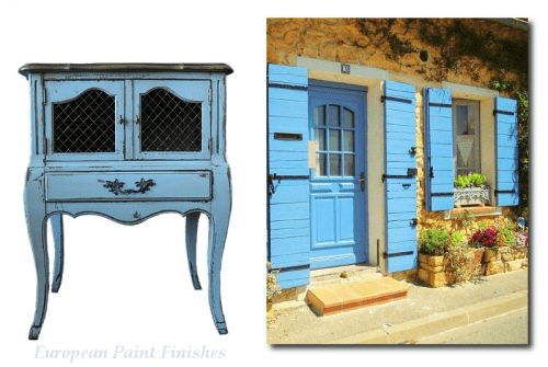 country french style furniture. Blue Painted French Furniture- Country Style Furniture