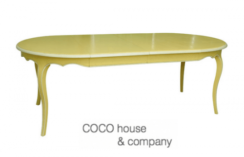 Provincial Yellow Painted Table 500x321 Top 5 Bold Colors to Paint Your Wooden Furniture