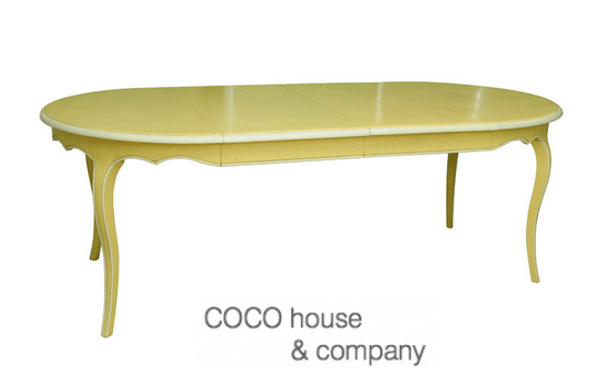 Provincial yellow painted table for Yellow painted table
