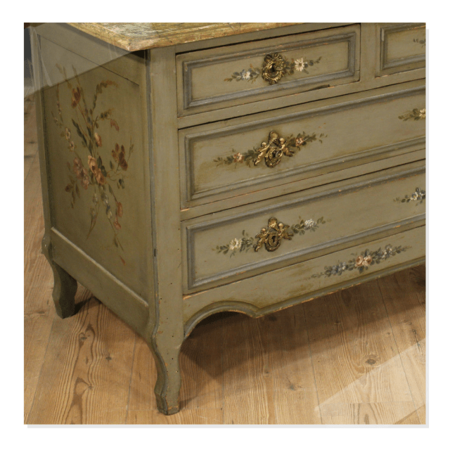 Improve Your French Dresser Or Sideboard With Faux Marble