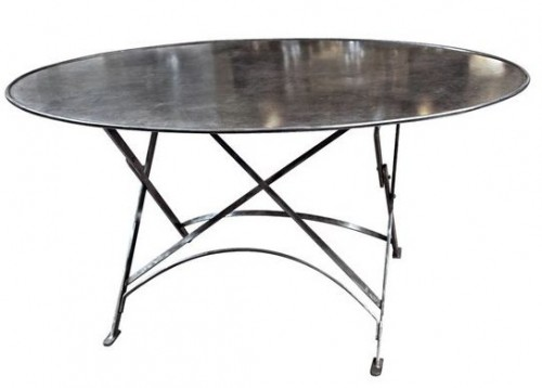 Folding French Metal Tables Outdoor Indoor