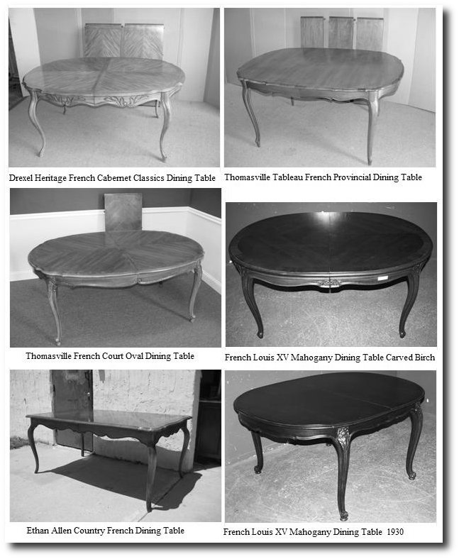 French Provincial Dining Tables Vintage French Provincial Furniture