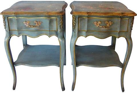 french provincial side tables one kings lane furniture stores in chicago painted white craigslist