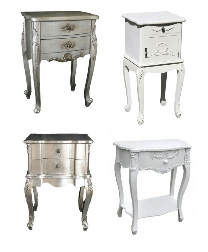 Attractive French Side Tables Nightstands